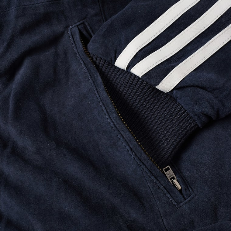 Adidas Suede Track Jacket (Navy)   END.