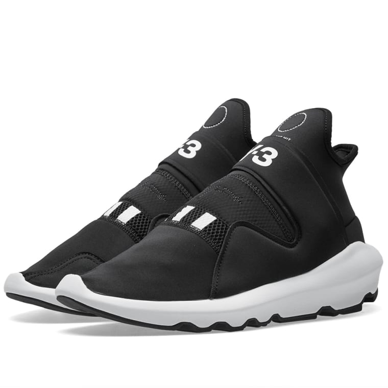 Y-3 SUBEROU SNEAKERS in BLACK & WHITE
