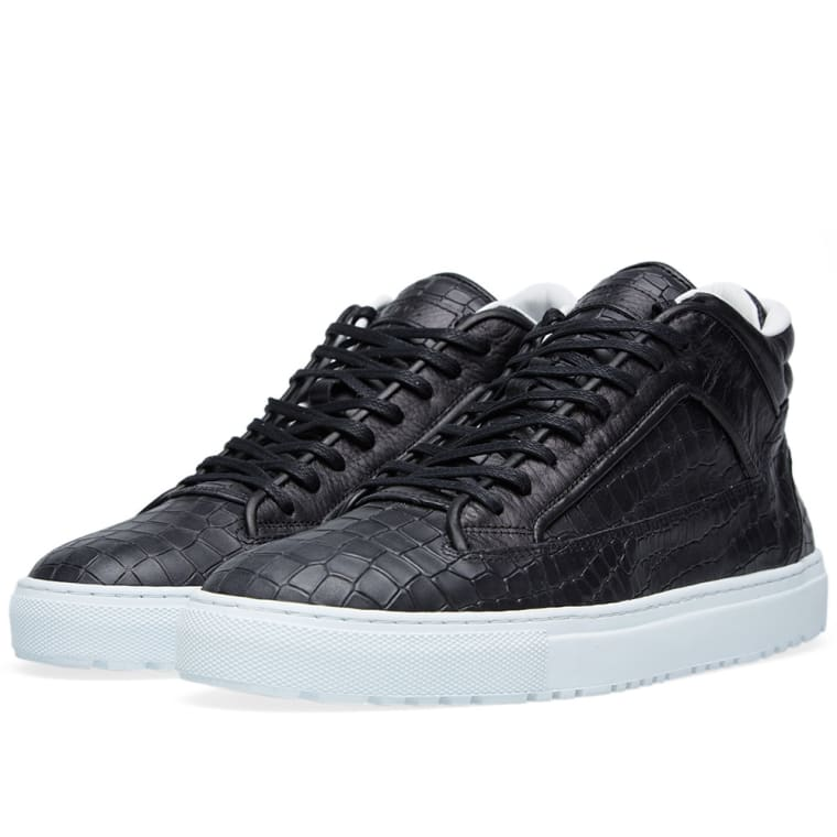 ETQ. Mid Top 2 Sneaker (Black Croc Embossed)  35dd2acdd24d