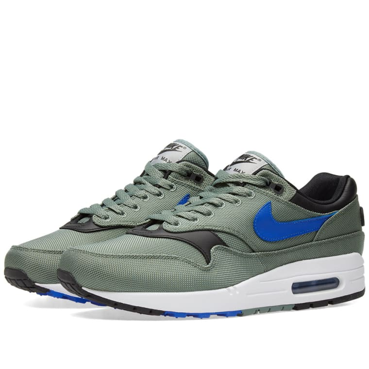 ada6e39b435564 closeout nike air max 1 premium clay green hyper royal 1 03c02 a3185