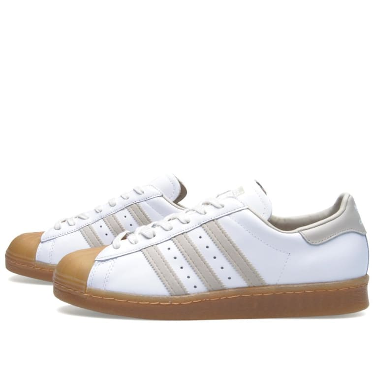 quality design 76860 fef27 Adidas Superstar 80s Running White   Gum 5