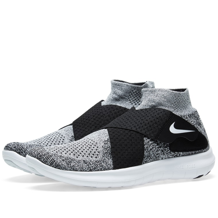 detailed look 42bbf 7ae27 ... promo code for nike free rn motion flyknit 2 black white pure platinum  1 5473e 77df6