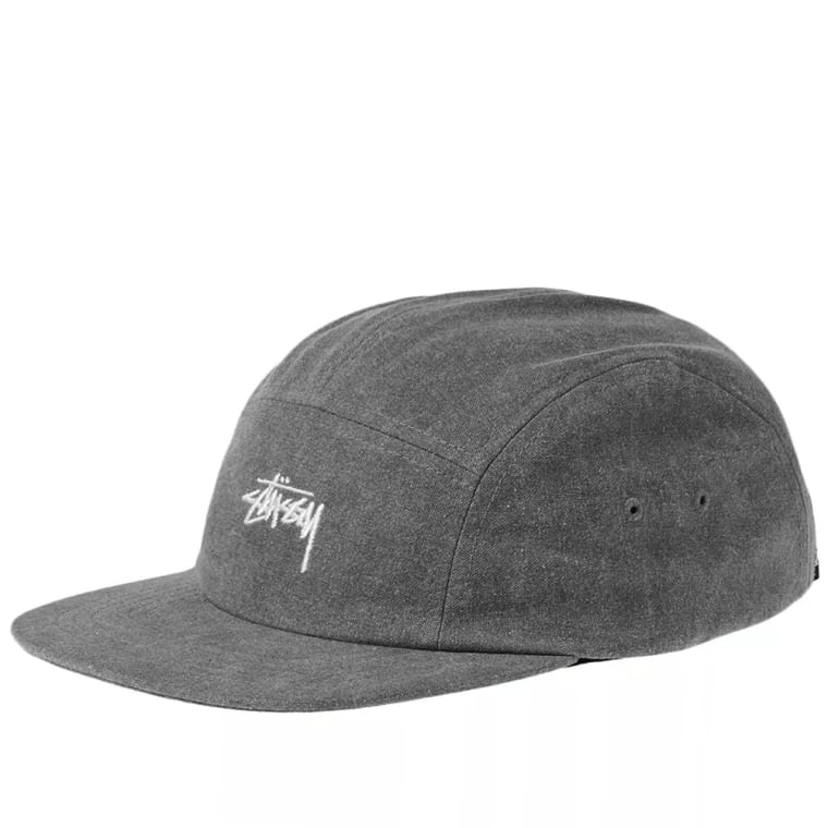Stussy Washed Oxford Canvas Camp Cap (Black)  fe5e50bb534
