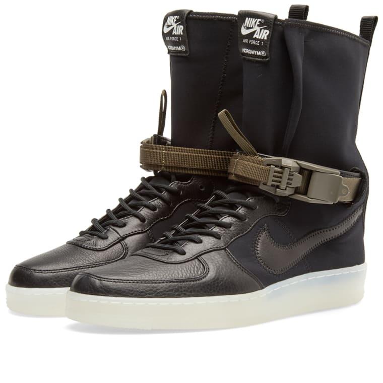 the latest 46a91 ef546 Nike x Acronym Air Force 1 Downtown Hi SP Black Bright Crimson ...