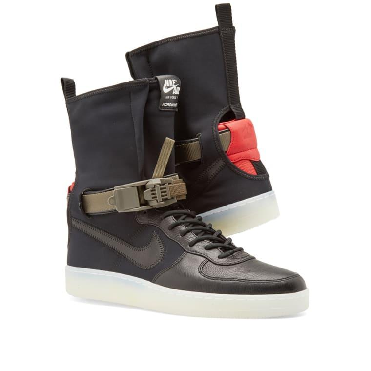 38fe7b1dfbcb33 ... Nike x Acronym Air Force 1 Downtown Hi SP. Black Bright Crimson. 305.