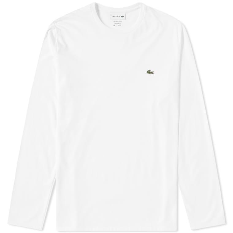 c2636618e9f25a Lacoste Long Sleeve Classic Tee (White)