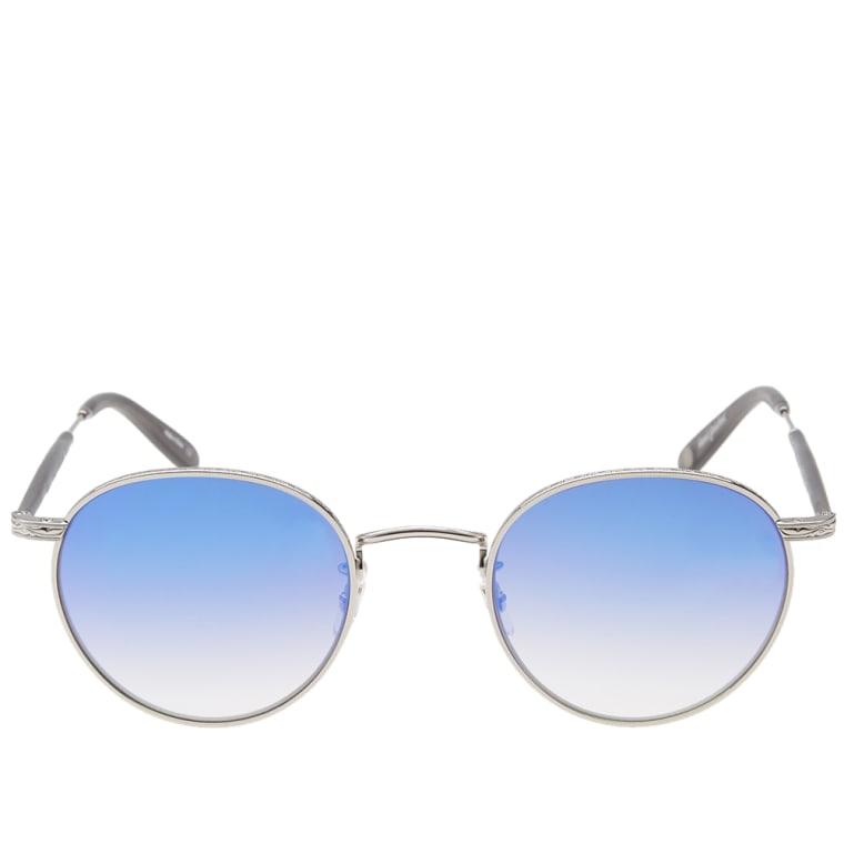 Garrett Leight Wilson M Sunglasses (Silver, Grey & Dodger ...