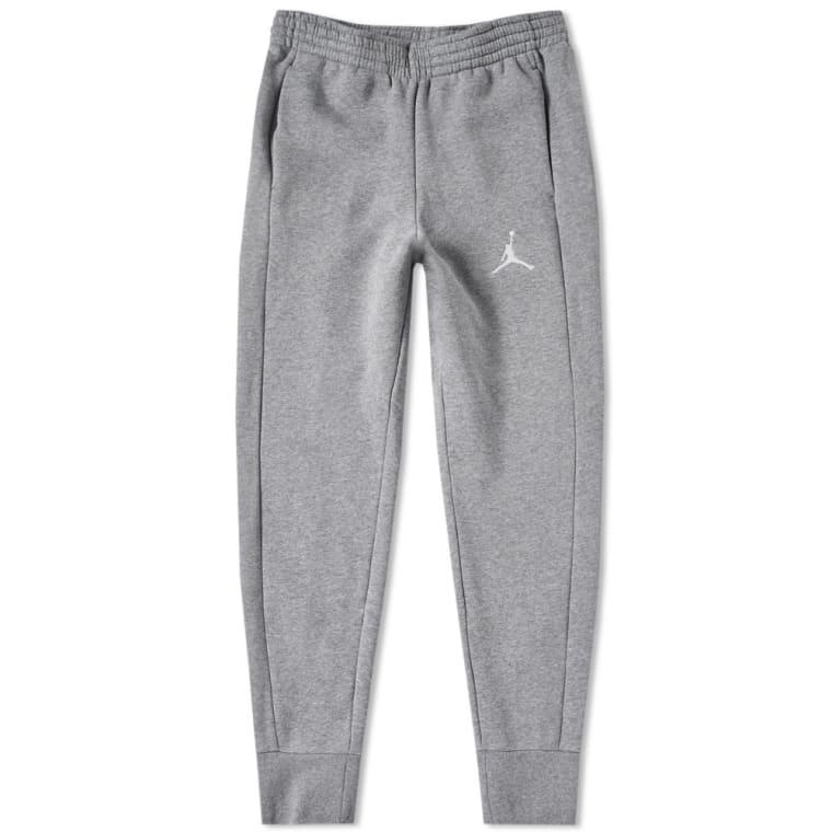 1b6f3d908bed Nike Jordan Flight Fleece Pant (Carbon Heather   White )