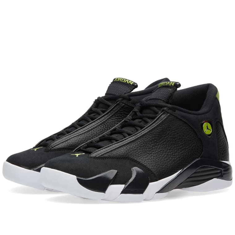 the latest 585d1 51305 ... cheap nike air jordan 14 retro black white vivid green 1 e6d14 609ee