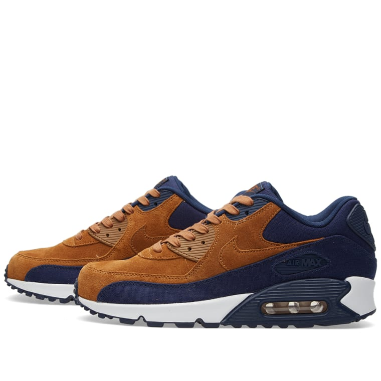 buy popular 77a97 8292f ... cheap nike air max 90 premium ale brown midnight navy 3 9d78a 7452a