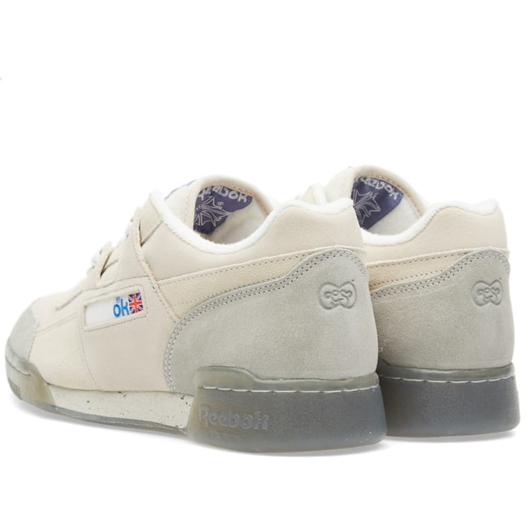 Reebok x Garbstore Workout Low Plus (Off White   Cleat Grey)  b9eded8ba