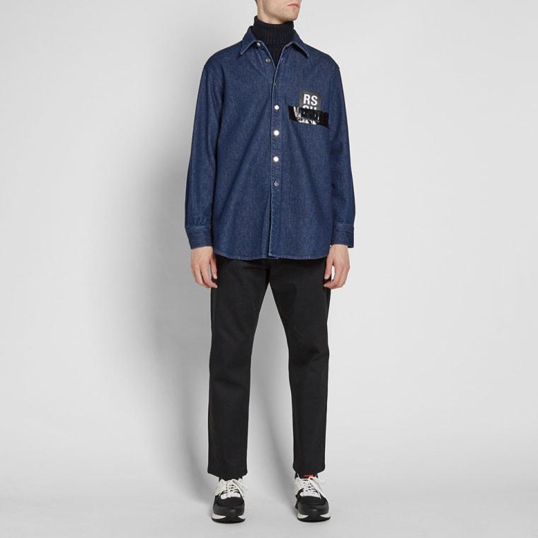 02a3095c4b2 Raf Simons Carryover Denim Shirt Source · Raf Simons Patch Denim Shirt Dark  Navy END