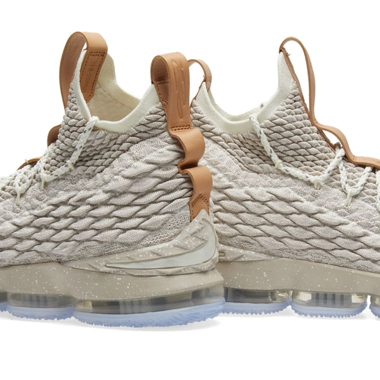 a8aeee11d3a 2017 Nike LeBron 15 Ghost String and Vachetta Tan-Sail For Sale Nike Lebron  XV Ghost String