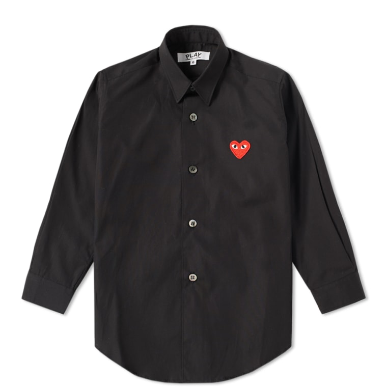 Comme des Garcons Play Kids Red Heart Shirt (Black) | END.