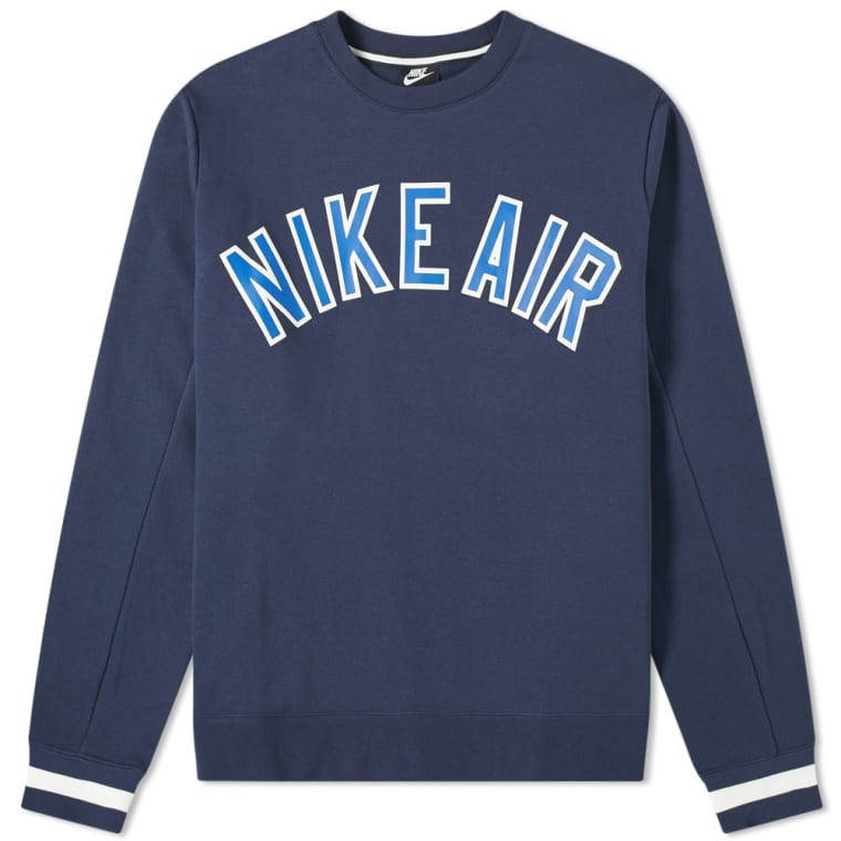 Nike Air Varsity Crew Sweat Obsidian 1
