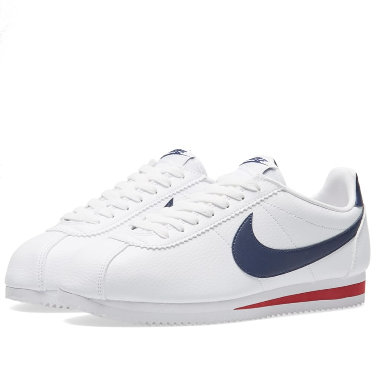 Nike Classic Cortez Leather White Amp Midnight Navy
