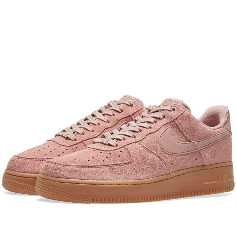 nike air force 1 39 07 lv8 suede pink gum medium brown. Black Bedroom Furniture Sets. Home Design Ideas