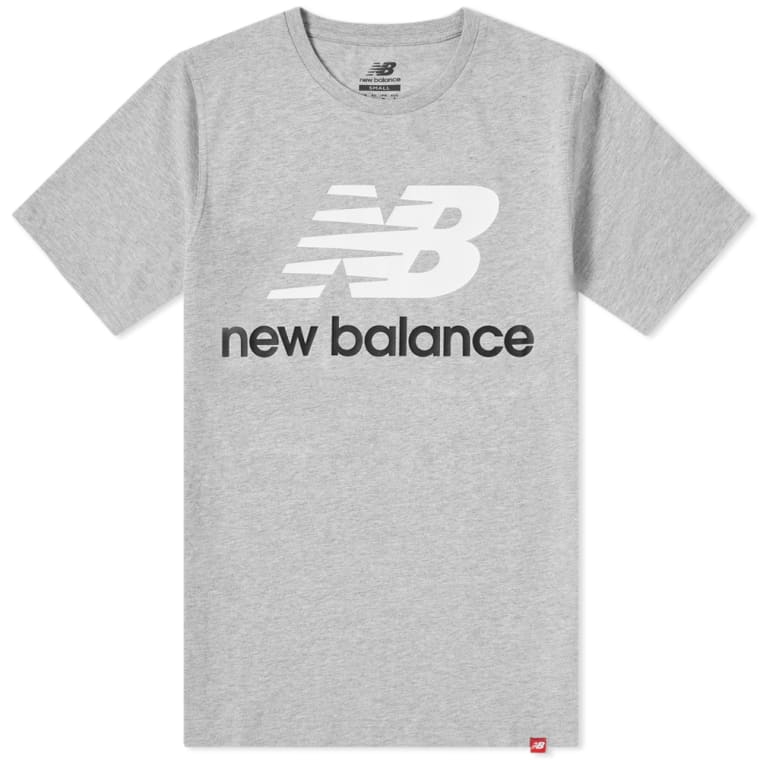 d3ba55426 New Balance Essentials Stacked Logo Tee (Grey) | END.
