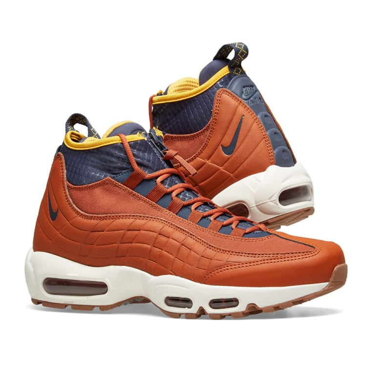 timeless design 3b213 40c08 ... coupon code for nike air max 95 sneakerboot russet blue bone yellow 7  1bab9 d9516