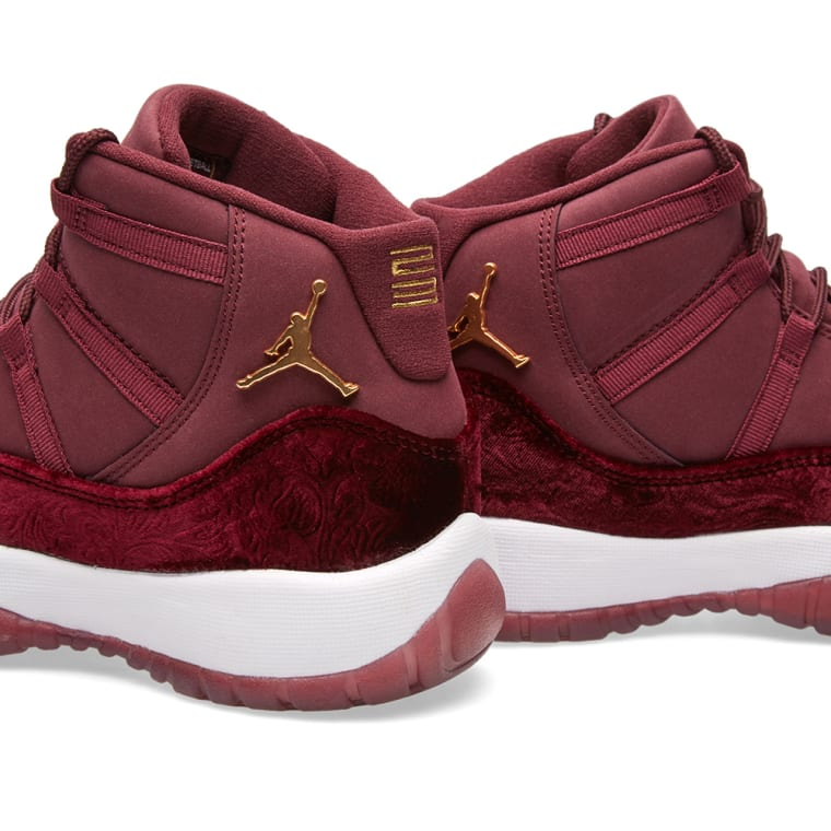 f2a4ab7f2ef ... Nike Air Jordan 11 Retro GG Night Maroon Metallic Gold 5 top quality  f0f1a 770f9  Air Jordan 11 GS Heiress Red Velvet ...
