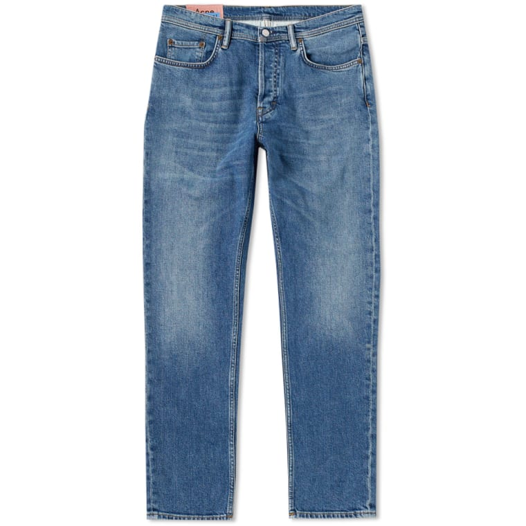Acne Studios River Slim Tapered Fit Jean (Mid Blue 2)   END. 38a332535ce