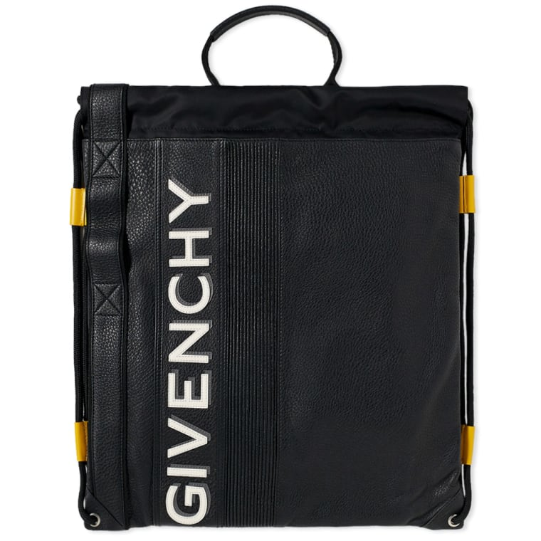 Givenchy Drawstring Gym Bag Black Yellow 1