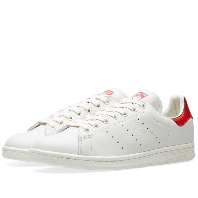 Adidas Stan Smith Premium (Chalk White   Scarlet)  13c0616e6
