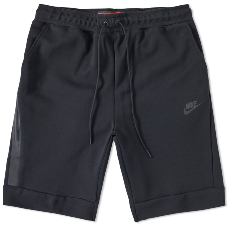 nike tech fleece short black end. Black Bedroom Furniture Sets. Home Design Ideas