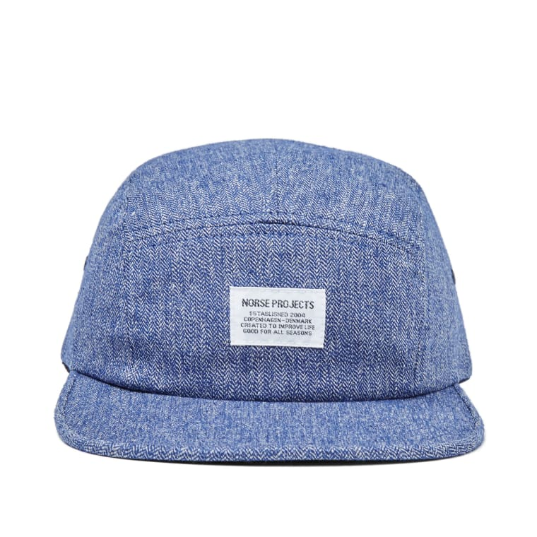 Norse Projects Melange 5 Panel Cap (Navy)  c5e1fab782a