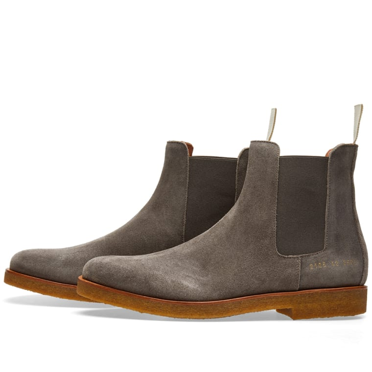 Common Projects Chelsea Boot Waxed Suede Dark Grey End