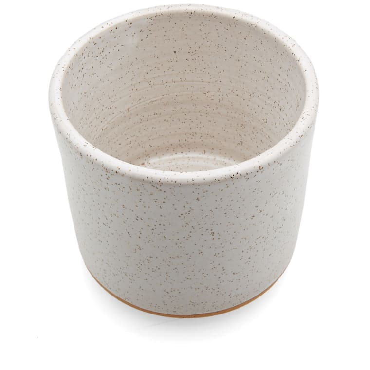 Norden Goods 7 Quot Stoneware Planter White Speckle End