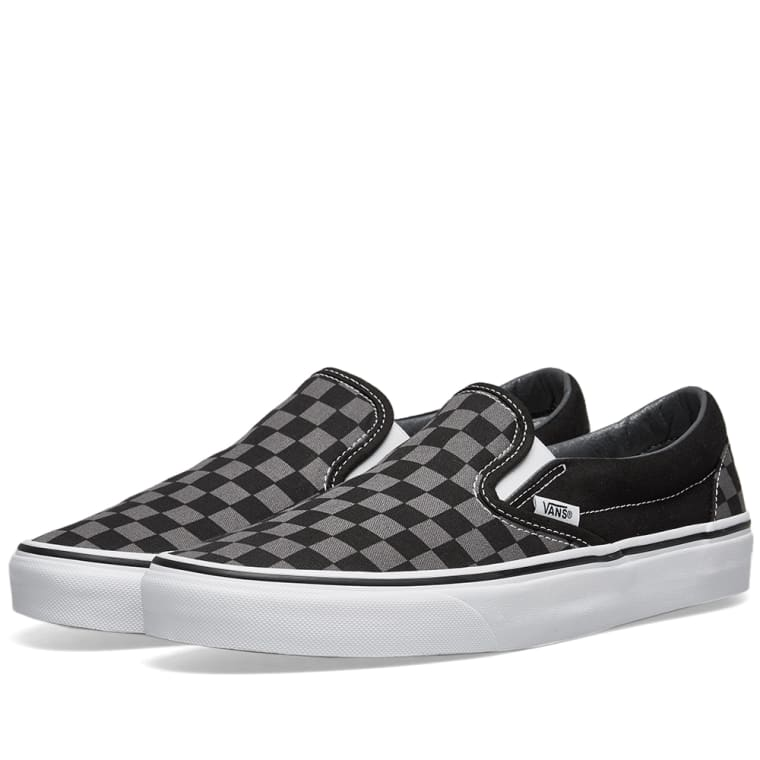 e1102d385fb Vans UA Classic Slip On (Black   Pewter Checkerboard)