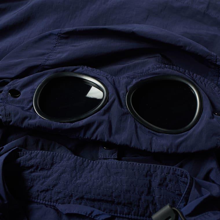 C.P. Company Chrome Goggle Hooded Shirt Jacket (Navy)