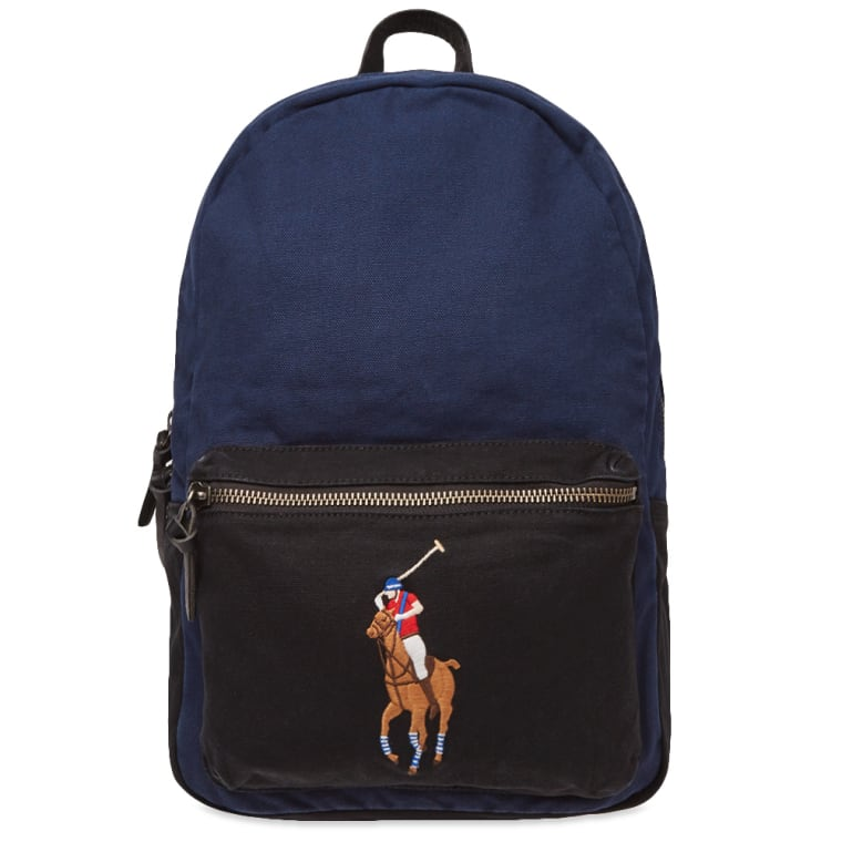 Polo Ralph Lauren Polo Player Canvas Backpack (Navy)  a7ef115869af7