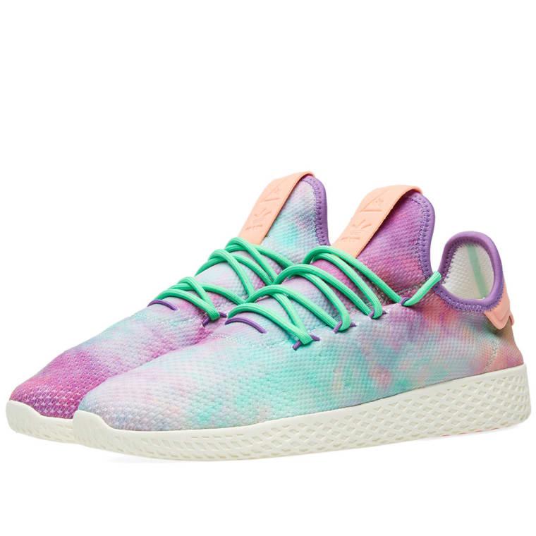 a0ee0284a5f1c ... usa adidas x pharrell williams hu tennis hu holi powder dye chalk coral  multi 327ef 55fb2