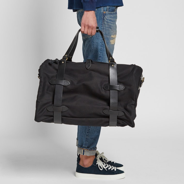 Filson Twill Medium Duffle Bag Black 3