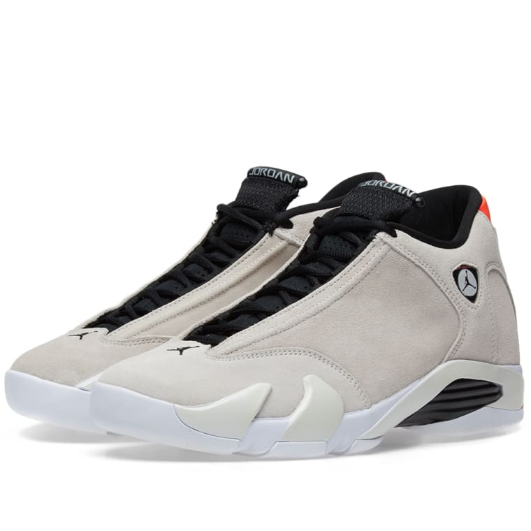 Air Jordan 14 Retro Desert Sand, Black  Infrared 1