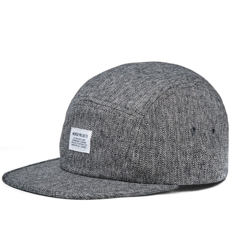 Norse Projects Melange 5 Panel Cap (Charcoal)  31faad10113