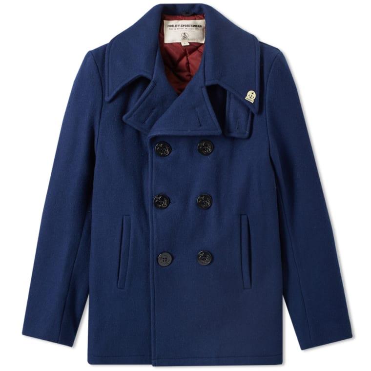 Fidelity USN Wool Pea Coat  Midnight  3