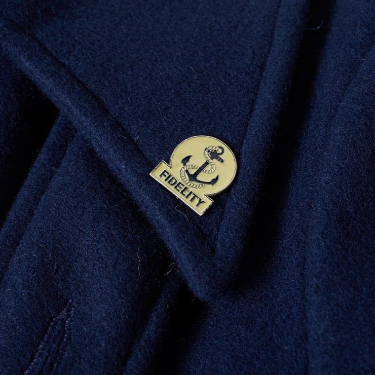 Fidelity USN Wool Pea Coat  Midnight  1