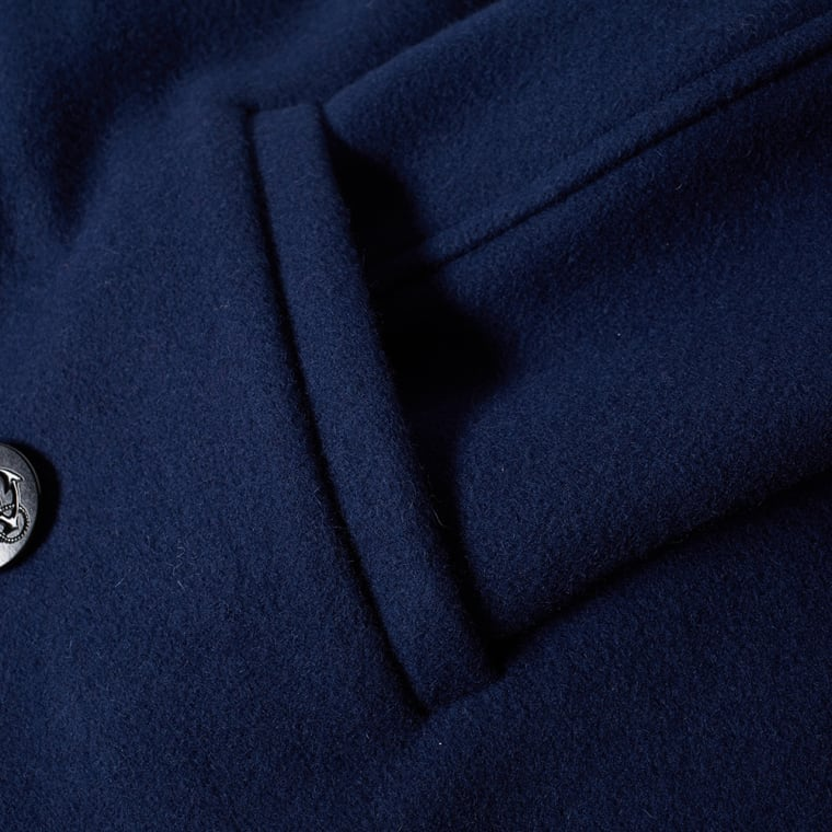 Fidelity USN Wool Pea Coat  Midnight  7