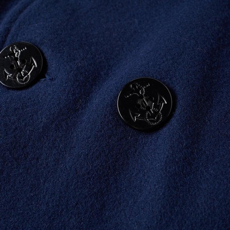 Fidelity USN Wool Pea Coat  Midnight  6