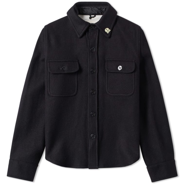 Fidelity Wool Cpo Jacket Dark Navy End