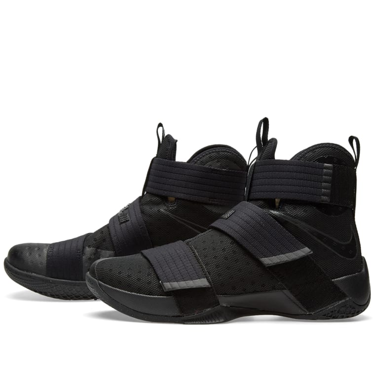online store d71bf 2b4df promo code for nike lebron soldier 10 black white blue 12489 ...