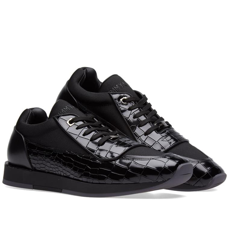 e6ce8d19e79 Jimmy Choo Jett Sneaker (Black Embossed Croc)