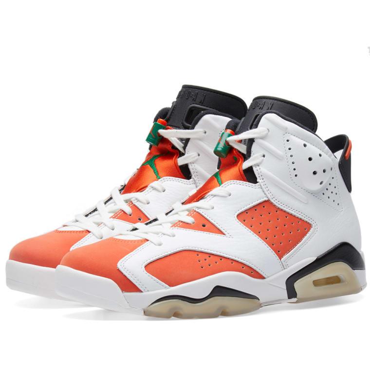 a8d5632969dfda ... purchase nike air jordan 6 retro gatorade white team orange black 1  39039 30f18