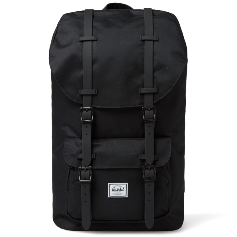 c8de6799a5c9 Herschel Supply Co. Little America Backpack (Black   Black Rubber ...