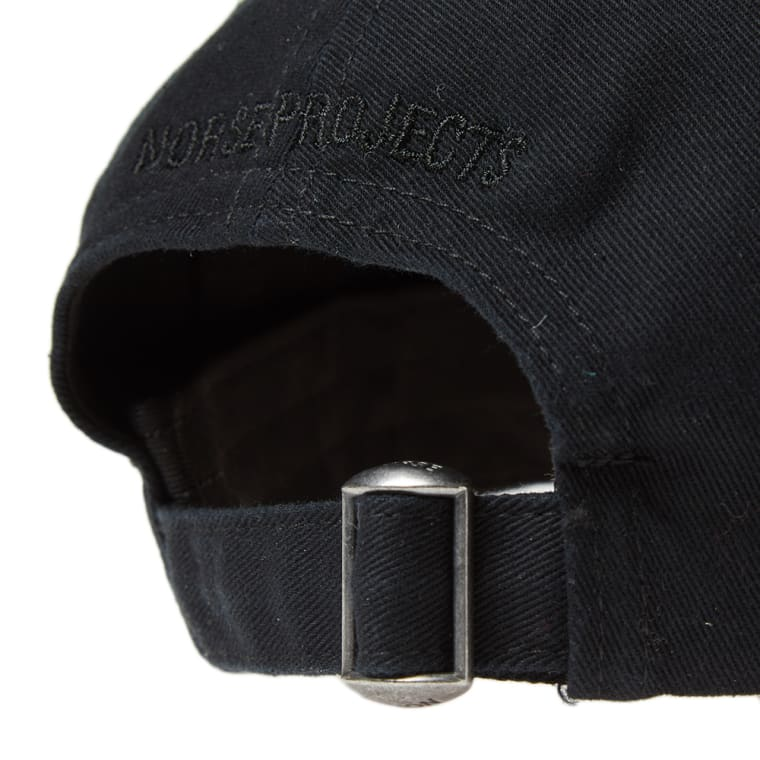 Norse Projects Light Twill Sports Cap (Black)  07d6ebf55f5