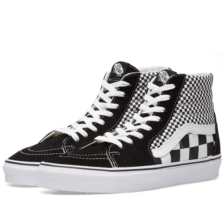 771ed1ec07 vans sk8 hi black and white Sale