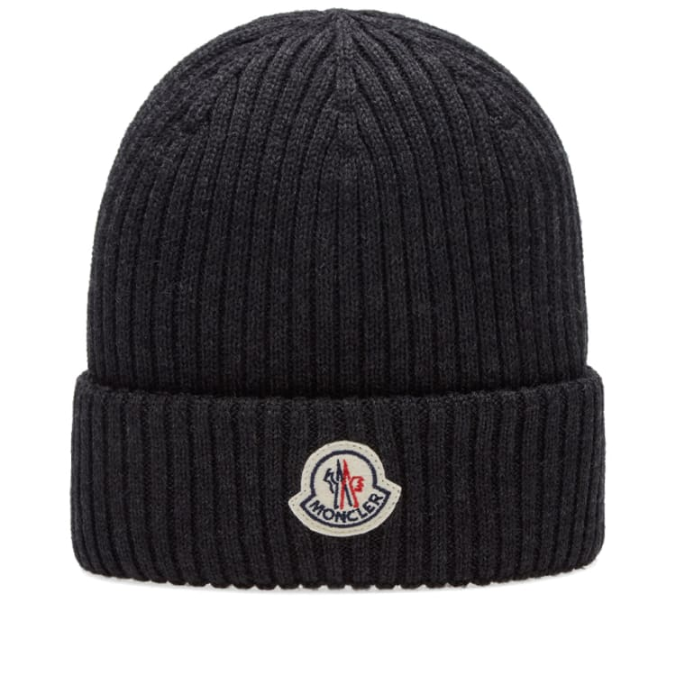 115512442fb Moncler Basic Ribbed Beanie (Charcoal)